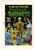 Original Comic Art:Miscellaneous, Adventures Into Darkness #13 Printer's Proof (Better-Standard,1954). Attend the feast of ghouls, in this stunning, Golden A...