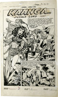 Original Comic Art:Splash Pages, Robert Webb - Ka'a'nga Comics #8, Splash page 1 Original Art(Fiction House, 1951). Tarz...we mean, Ka'a'nga, Lord of the Ju...