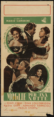"Wife for a Night & Others Lot (Edward Harrison, 1958). Italian Locandinas (3) (13"" X 27""). Comedy. ... (To..."