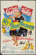 "Movie Posters:Musical, My Blue Heaven (20th Century Fox, 1950). One Sheet (27"" X 41"").Musical.. ..."