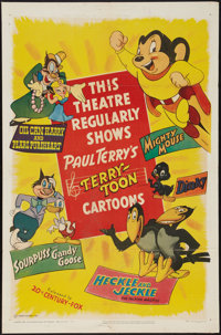 "Terry-Toon Cartoons (20th Century Fox, 1950). One Sheet (27"" X 41""). Animation"