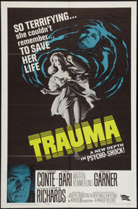 "Trauma (Parade Releasing, 1962). One Sheet (27"" X 41""). Horror"