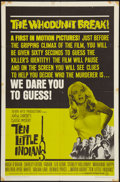 "Movie Posters:Mystery, Ten Little Indians (Seven Arts, 1966). One Sheet (27"" X 41"").Mystery.. ..."