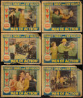 "Movie Posters:Action, Men of Action (Conn, 1935). Lobby Cards (6) (11"" X 14""). Action.. ... (Total: 6 Items)"