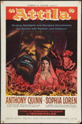 "Movie Posters:Adventure, Attila (Embassy, R-1962). One Sheet (27"" X 41""). Adventure.. ..."