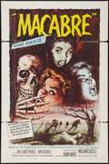 "Movie Posters:Horror, Macabre (Allied Artists, 1958). One Sheet (27"" X 41""). Horror.. ..."