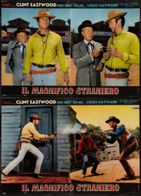 "The Magnificent Stranger (Unidas, 1966). Italian Photobustas (8) (18"" X 26.5""). Western. ... (Total: 8 Items)"