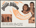 "Movie Posters:Academy Award Winners, Casablanca (Warner Brothers, R-1956). Half Sheet (22"" X 28""). Academy Award Winners.. ..."