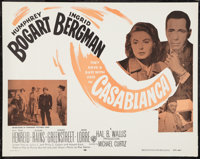 "Casablanca (Warner Brothers, R-1956). Half Sheet (22"" X 28""). Academy Award Winners"