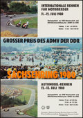 """Movie Posters:Sports, Sachsenring Racing Poster (Sachsenring, 1980). German Racing Poster (16"""" X 23""""). Sports.. ..."""