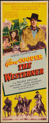 """The Westerner (United Artists, 1940). Insert (14"""" X 36""""). Western"""