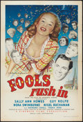 """Movie Posters:Comedy, Fools Rush In (Eagle-Lion, 1949). British One Sheet (27"""" X 40""""). Comedy.. ..."""