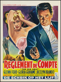 "The Big Heat (Columbia, 1953). Belgian Poster (14.5"" X 19.5""). Film Noir"