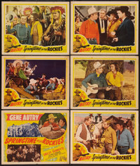 "Springtime in the Rockies (Republic, R-1940s). Title Lobby Card & Lobby Cards (5) (11"" X 14""). Western..."
