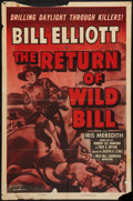 "Movie Posters:Western, The Return of Wild Bill (Columbia, R-1955). One Sheet (27"" X 41"").Western.. ..."