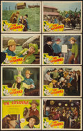 "Movie Posters:Western, Oh, Susanna! (Republic, R-1940s). Lobby Card Set of 8 (11"" X 14"").Western.. ... (Total: 8 Items)"