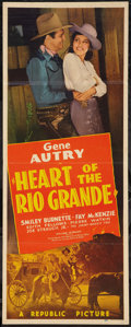 "Movie Posters:Western, Heart of the Rio Grande (Republic, 1942). Insert (14"" X 36"").Western.. ..."