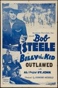 """Movie Posters:Western, Billy the Kid Outlawed (Madison Pictures, R-1946). Stock One Sheet (27"""" X 41""""). Western.. ..."""