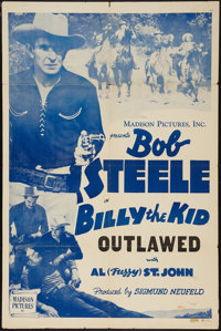 """Billy the Kid Outlawed (Madison Pictures, R-1946). Stock One Sheet (27"""" X 41""""). Western"""
