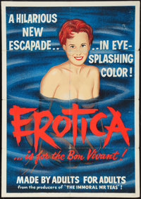 "Erotica (Pad-Ram Enterprises, 1961). Silk Screen Day-Glo One Sheet (30"" X 42.5""). Sexploitation"