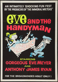 "Eve and the Handyman (Pad-Ram Enterprises, 1961). Silk Screen Day-Glo One Sheet (30"" X 42.5""). Sexploitation..."