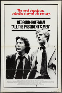 """All the President's Men (Warner Brothers, 1976). One Sheet (27"""" X 41""""). Flat Folded. Drama"""