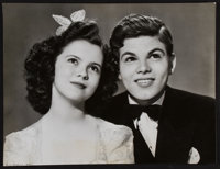 "Shirley Temple and Dickie Moore in Miss Annie Rooney (United Artists, 1942). Portrait Photo (10.5"" X 13.75"")..."