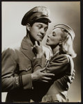 """Movie Posters:Romance, Dennis Morgan and Virginia Bruce in Flight Angels by George Hurrell(Warner Brothers, 1940). Portrait Photo (10.5"""" X 13.25"""")..."""