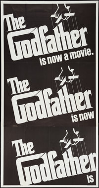 "The Godfather (Paramount, 1972). Three Sheet (41"" X 80""). Crime"