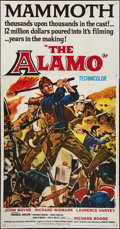 "Movie Posters:Western, The Alamo (United Artists, 1960). Three Sheet (41"" X 80"").Western.. ..."