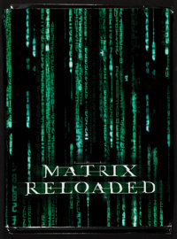 "The Matrix Reloaded (Warner Brothers, 2003). Presskit (Multiple Pages, 9"" X 12""). Science Fiction"