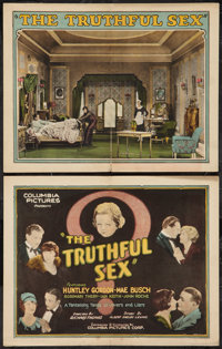 "The Truthful Sex (Columbia, 1926). Title Lobby Card and Lobby Card (11"" X 14""). Comedy. ... (Total: 2 Items)"