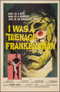 "Movie Posters:Horror, I Was a Teenage Frankenstein (MGM, 1957). International One Sheet(27"" X 41""). Horror.. ..."