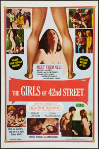"Fleshpot on 42nd Street (William Mishkin Motion Pictures Inc., 1973). One Sheet (27"" X 41""). Exploitation. Alt..."