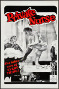 """Movie Posters:Adult, Private Nurse (Unknown, 1980). One Sheet (27"""" X 41""""). Flat Folded. Adult.. ..."""