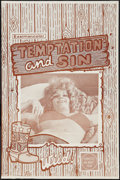 "Movie Posters:Sexploitation, Temptation and Sin (Unknown, 1968). One Sheet (23"" X 34.5"").Sexploitation.. ..."