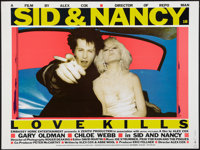 "Sid & Nancy (Samuel Goldwyn, 1986). British Quad (30"" X 40""). Drama"