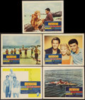 """Movie Posters:Comedy, Gidget (Columbia, 1959). Title Lobby Card and Lobby Cards (4) (11"""" X 14""""). Comedy.. ... (Total: 5 Items)"""