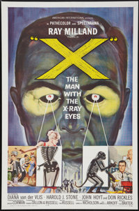 "X - The Man with the X-Ray Eyes (American International, 1963). One Sheet (27"" X 41""). Science Fiction"