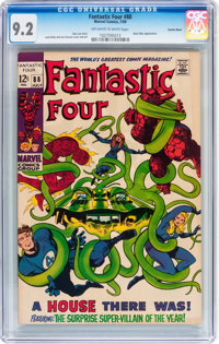 Fantastic Four #88 Suscha News pedigree (Marvel, 1969) CGC NM- 9.2 Off-white to white pages