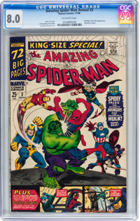 The Amazing Spider-Man Annual #3 (Marvel, 1966) CGC VF 8.0 Off-white pages