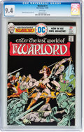 Bronze Age (1970-1979):Miscellaneous, Warlord #1 (DC, 1976) CGC NM 9.4 White pages....