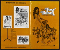 """Foxy Brown Autographed by Peter Brown (American International, 1974). Autographed Pressbook (Multiple Pages, 8.5"""" X..."""
