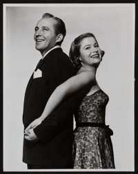 """Bing Crosby and Nancy Olson in Mr. Music (Paramount, 1950). Portrait Photo (10"""" X 12.75""""). Musical"""