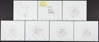 The Simpsons (20th Century Fox, 1995). Storyboards (14). Animation. ... (Total: 14 Item)