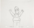 "Movie/TV Memorabilia:Original Art, Production Sketch of Homer Simpson from ""The Simpsons.""..."