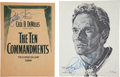Movie/TV Memorabilia:Autographs and Signed Items, Two Signed Charlton Heston Items....