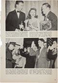 Movie/TV Memorabilia:Autographs and Signed Items, Bob Hope Signed Vintage Book Page. ...