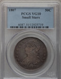 Bust Half Dollars: , 1807 50C Capped Bust, Small Stars VG10 PCGS. PCGS Population(8/83). Numismedia Wsl. Price for problem ...