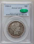 Barber Half Dollars: , 1908-O 50C VF35 PCGS. CAC. PCGS Population (23/338). NGC Census:(4/196). Mintage: 5,360,000. Numismedia Wsl. Price for pro...